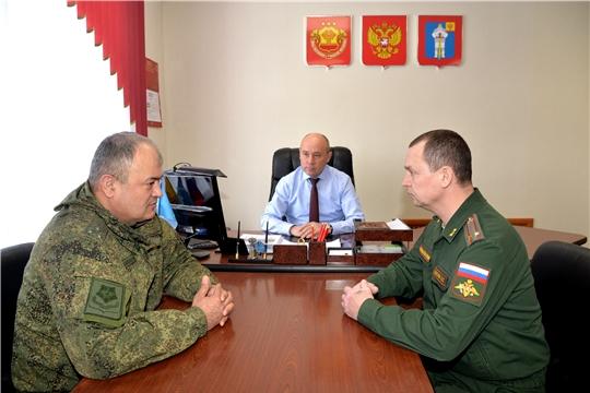 Р.Селиванов встретился с военным комиссаром Чувашской Республики