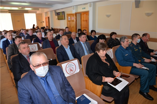 Совместное заседание противопаводковой комиссии района и комиссии по предупреждению и ликвидации чрезвычайной ситуации и обеспечению пожарной безопасности