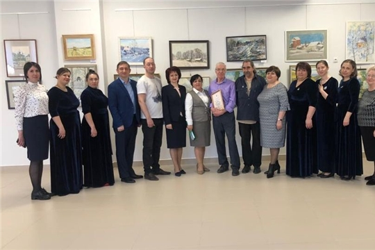 Открытие выставки художников педагогов Чувашской Республики и Республики Татарстан «Два берега — одна мечта»