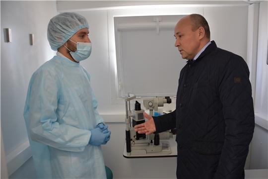 В Батыревском районе передвижной офтальмологический комплекс
