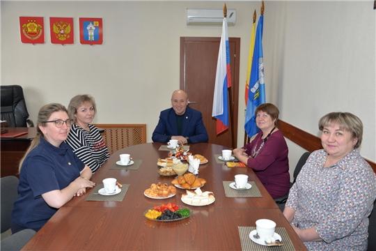 Рабочая встреча с профсоюзными лидерами района