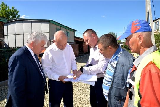 Рабочая поездка главы администрации района по строящимся объектам