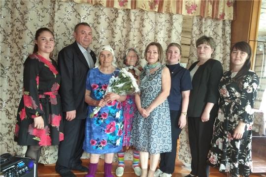 Труженица тыла, жительница с.Норваш-Шигали Ольга Харитоновна Ильина отметила 90-летний юбилей