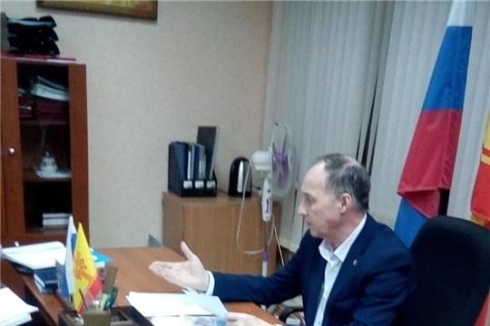 С инспекционной проверкой посетили администрацию Чебоксарского района