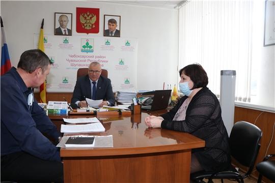 Глава администрации Чебоксарского района Николай Хорасёв провел личный прием граждан