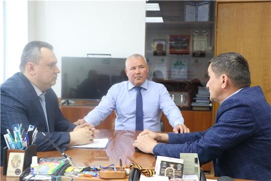Чебоксарский район посетил руководитель Государственной службы Чувашской Республики по делам юстиции Дмитрий Сержантов