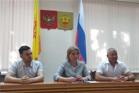 С рабочим визитом Чебоксарский район посетил Руководитель Госслужбы Чувашии Надежда Колебанова