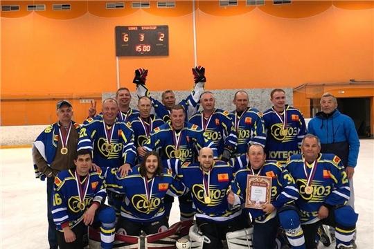 Комада «Союз» Чебоксарский район, в сезоне 2020-21 отстояла титул Чемпиона НПХЛ и победителя Первенства Чувашии по хоккею с шайбой в дивизионе «Ветераны».