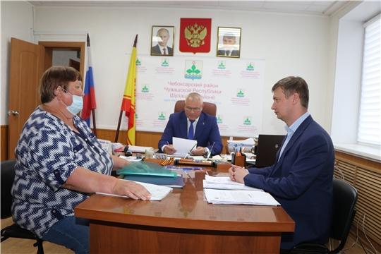 Глава администрации Чебоксарского района Николай Хорасев  провел личный прием граждан