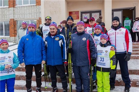 В Чебоксарах состоялась 39-я Всероссийская массовая лыжная гонка «Лыжня России – 2021»