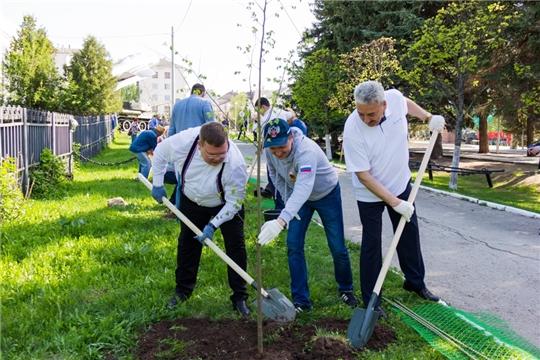 В парке Победы города Чебоксары заложена ещё одна аллея землячеств Чувашии