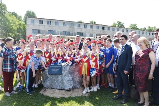 Депутаты приняли участие в церемонии закладки памятного камня, символизирующего начало реконструкции стадиона «Волга» в Чебоксарах