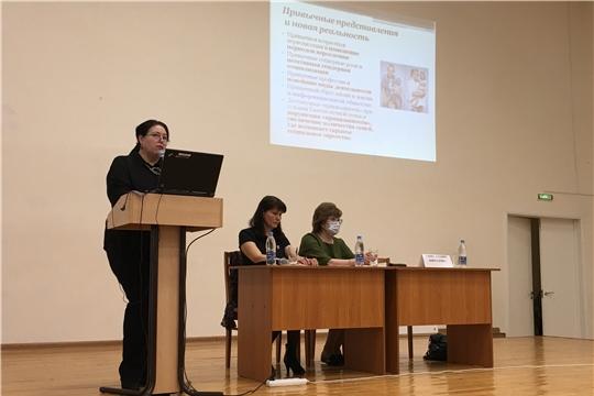 Алевтина Федорова приняла участие в родительском собрании средней школы № 43 города Чебоксары