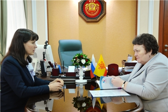 Спикер парламента Альбина Егорова провела встречу с Уполномоченным по правам ребенка в Чувашии Алевтиной Федоровой