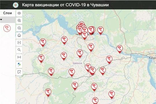 На geo.cap.ru появилась карта вакцинации от COVID-19 в Чувашии