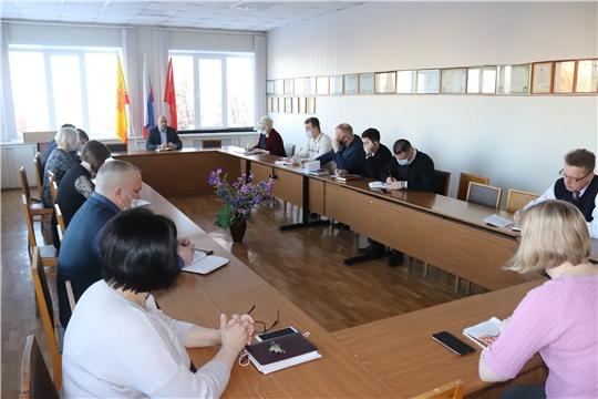 Планёрное совещание в администрации города Алатыря