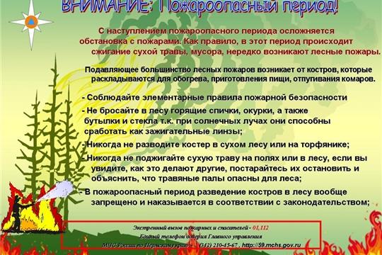 На территории Чувашской Республики установлен особый противопожарный режим