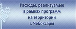 Расходы, реализуемые в рамках программ на территории г. Чебоксары