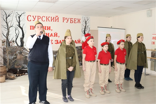 В столичных школах проходят мероприятия, посвященные строителям Сурского и Казанского оборонительных рубежей