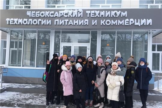 Профессиональная среда: чебоксарские школьники посещают техникумы