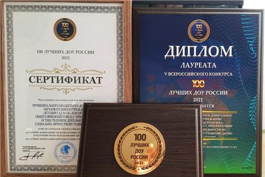 Детские сады города Чебоксары вошли в число 100 лучших ДОУ России-2021