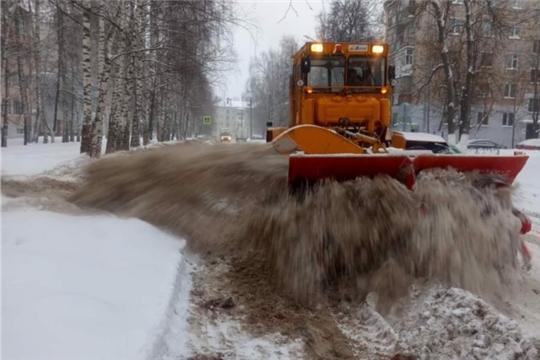 Предприятия городского хозяйства г.Чебоксары ликвидируют последствия сильнейшего снегопада