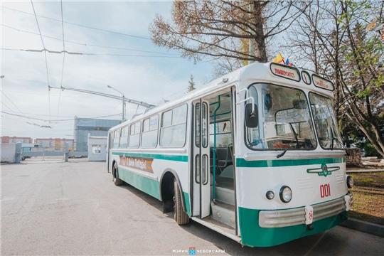 Ретро-троллейбус будет курсировать по Чебоксарам 9 Мая