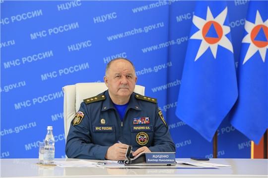 Председатель ГКЧС Чувашии Олег Яковлев принял участие в совещании по подведению итогов деятельности органов повседневного управления