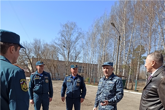 Рабочий визит председателя ГКЧС Чувашии Олега Яковлева в г.Шумерля и Шумерлинский район