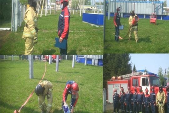 Пожарно-тактическое занятие на подстанции Красночетайского РЭС в рамках Недели безопасности населения