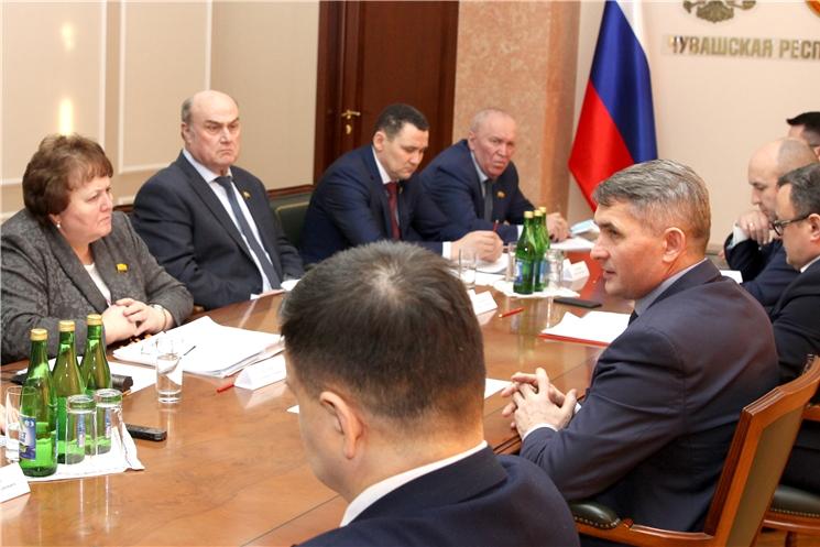 Олег Николаев встретился с руководством Госсовета и лидерами фракций