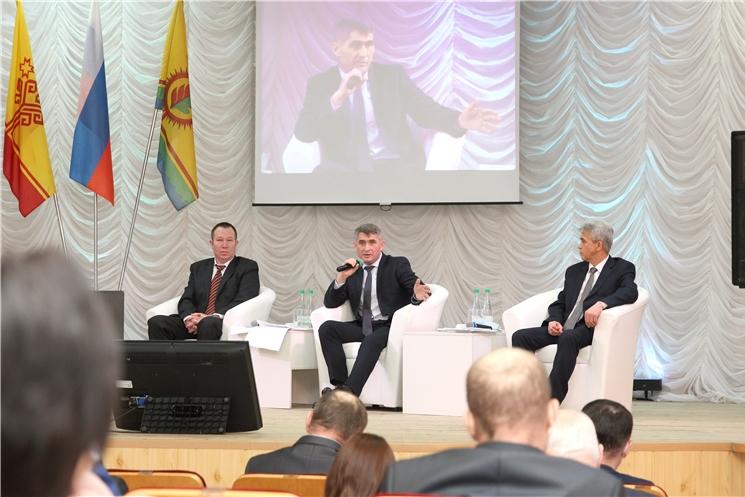 Олег Николаев принял участие в подведении итогов развития Шумерлинского района в 2020 году