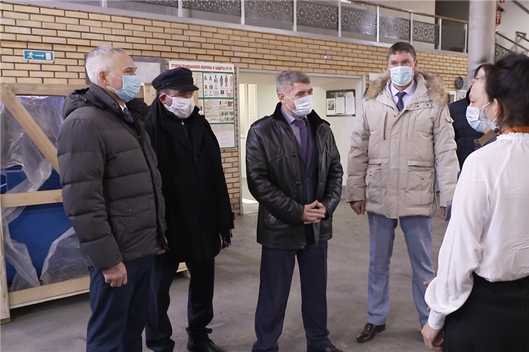 Глава Чувашии Олег Николаев с рабочей поездкой посетил Козловский район.