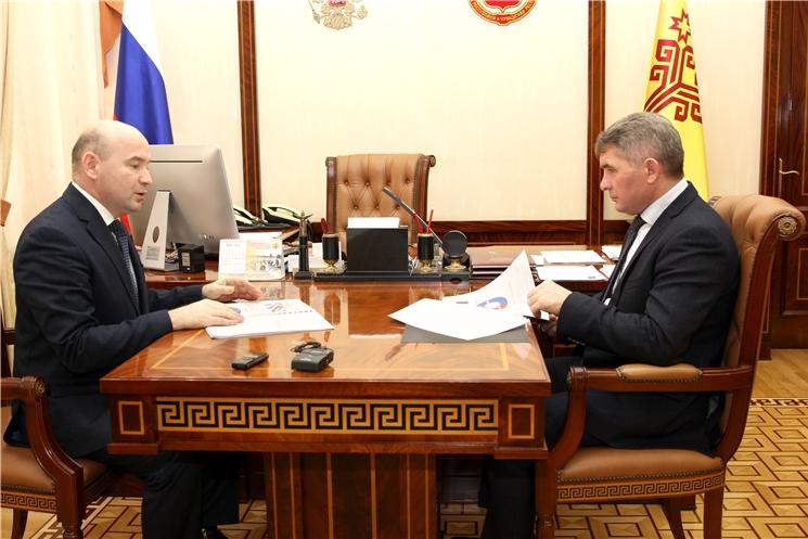 Олег Николаев провел встречу с руководителем УФАС по Чувашии Валерием Котеевым