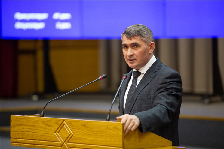 Олег Николаев выступил с отчетом о деятельности Правительства Чувашской Республики за 2020 год