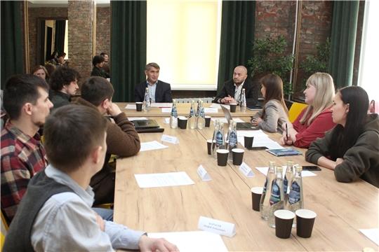 Встреча Олега Николаева с молодыми архитекторами Чувашии