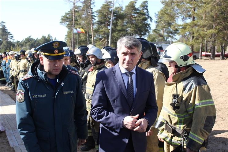 Глава Чувашии О.Николаев принял участие в командно-штабных учениях в Заволжье