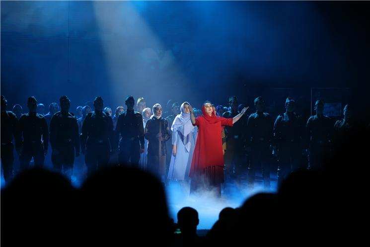 В ДК тракторостроителей состоялась премьера театрализованного представления «Сурский рубеж. Помни. Знай. Не забывай»