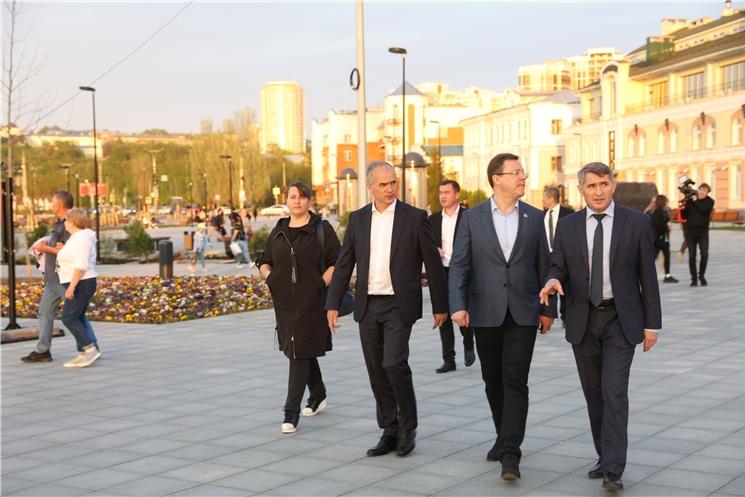 Олег Николаев и Дмитрий Азаров обсудили вопросы двустороннего сотрудничества Чувашии и Самарской области