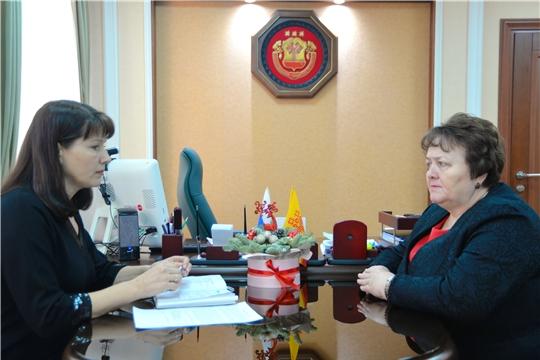 Спикер Госсовета Альбина Егорова провела рабочую встречу с детским омбудсменом Алевтиной Федоровой