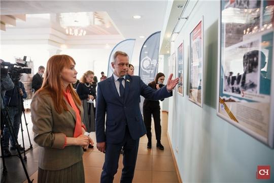 В ЧГУ открылась выставка, посвященная строительству Сурского рубежа