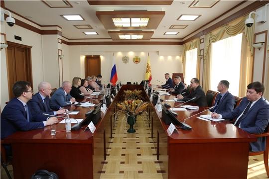 Состоялась встреча руководства парламента республики и представителей депутатских фракций с Главой региона