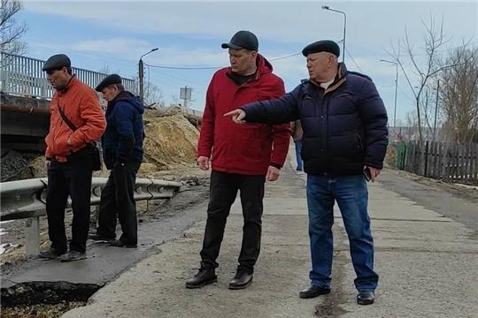В Шумерле движение транспорта открыто по постоянному мосту через р.Паланка
