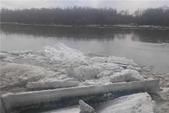 В районе города Шумерля река Сура освободилась ото льда