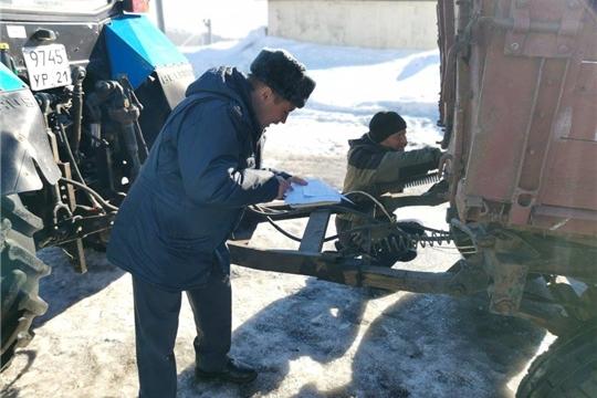 В Комсомольском районе начались технические осмотры техники