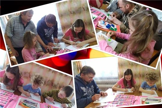 9 мая  учреждения культуры Ибресинского района приняли активное участие в Международном конкурсе «Рисуем с детьми вечный огонь».