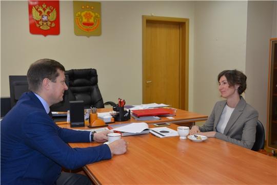 Кристина Майнина обсудила с руководителем УФПС Чувашии планы на 2021 год