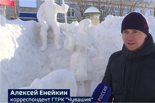 Журналист ГТРК «Чувашия» построил ледяной «Сурский рубеж»