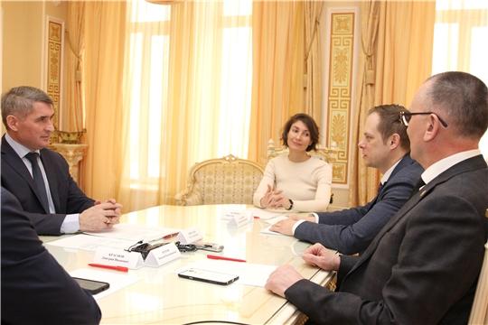 Глава Чувашии Олег Николаев обсудил вопросы цифровизации с замминистра спорта России Андреем Сельским