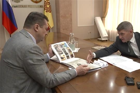 Глава Чувашии встретился с телеведущим Владимиром Соловьевым